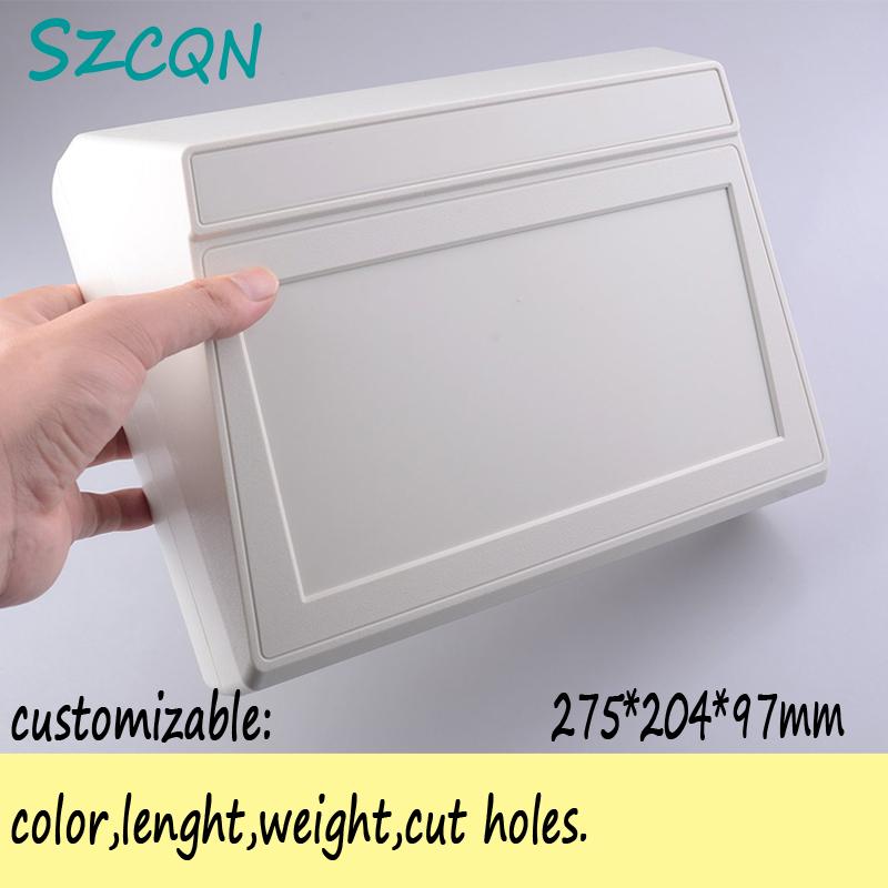 Plastic enclosure abs plastic electronics project box desktop instrument 275*204*97mm - QN-Enclosure Technology CO.,ltd store