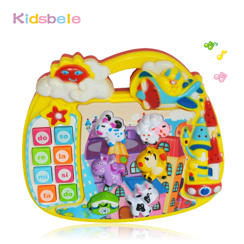 Kids Toy Learning Machine Electronic Tablet Toy For Early Educational Number/alphabet Sound Musical Toy For Baby Toys 0-12 Month(China (Mainland))