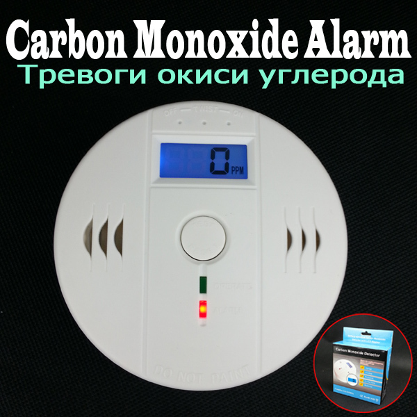 independent lcd home smoke carbon monoxide detector co gas sensor alarm battery operated 90db. Black Bedroom Furniture Sets. Home Design Ideas