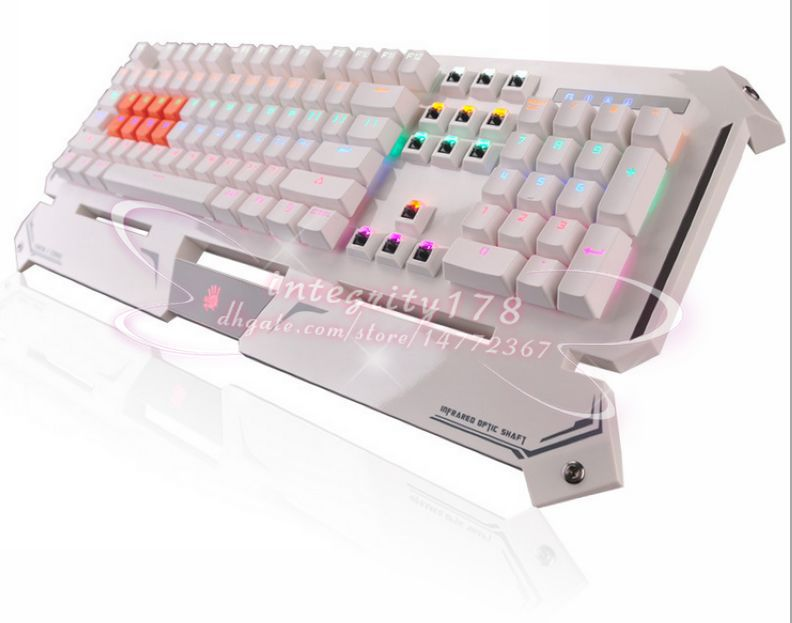 Bloodythe world's fastest wired Mechanical keyboard light strick keyboard Optical axis machine water-proof dust-proof keyboards(China (Mainland))