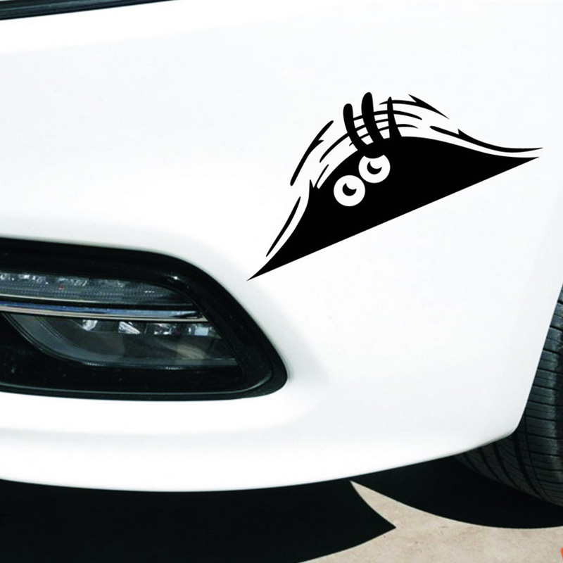 New Reflective Waterproof Fashion Funny Peeking Monster Car Sticker vinyl decal decorate sticker 71170