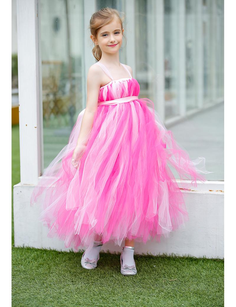girls ball gown chiffon wedding dresses baby girl halloween costumes