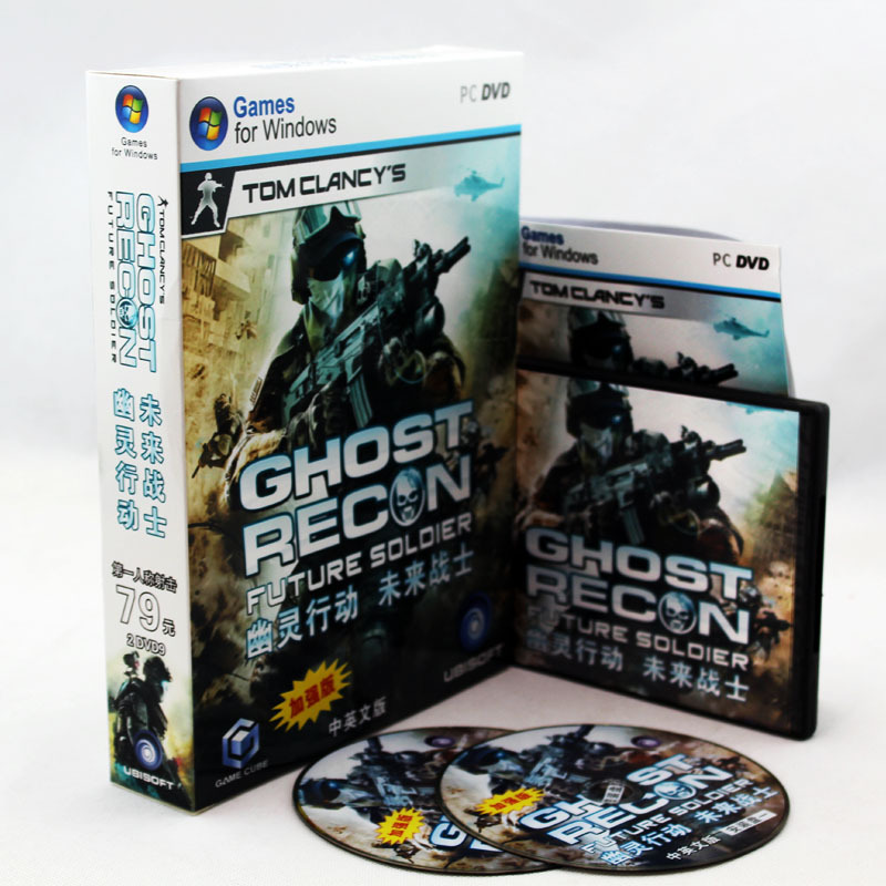 2015Original box PC games Ghost Recon: Future Soldier windows Serial Number FPS DVD sofwares - Professional Software Shop store
