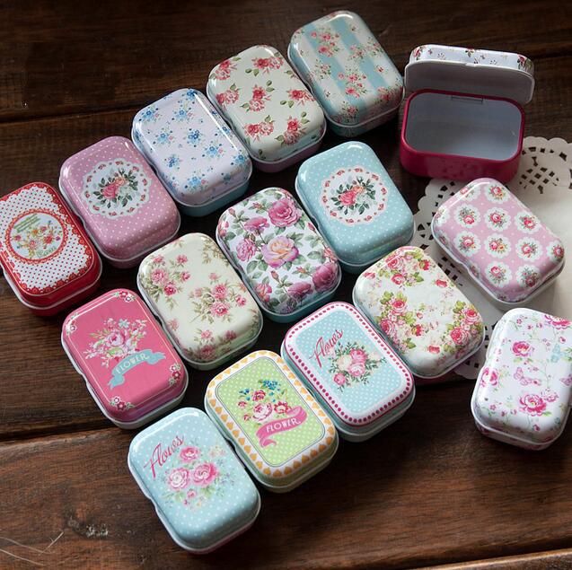 32pcs/set Mini tin case for jewelry sundries beautiful candy decorative storage boxes wedding favor box(China (Mainland))