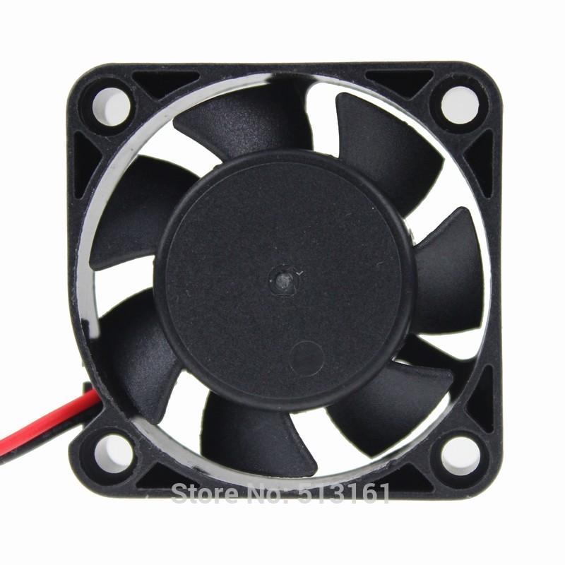 2 Pieces/lot Ball Bearing 40mm DC Cooling Fan 12 Volt 2Pin 40x40x10mm Computer Fans(China (Mainland))