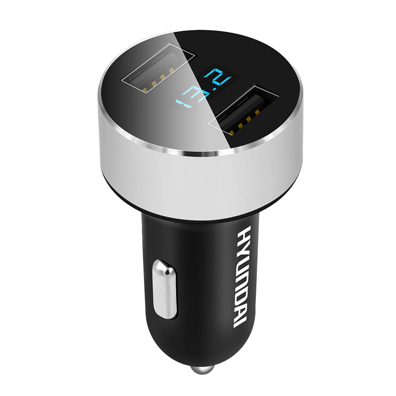 3.1A Dual USB Universal Intelligent Car Charger Quick Charger LED Display Cigarette Lighter Phone Adapter Car Voltage Diagnostic