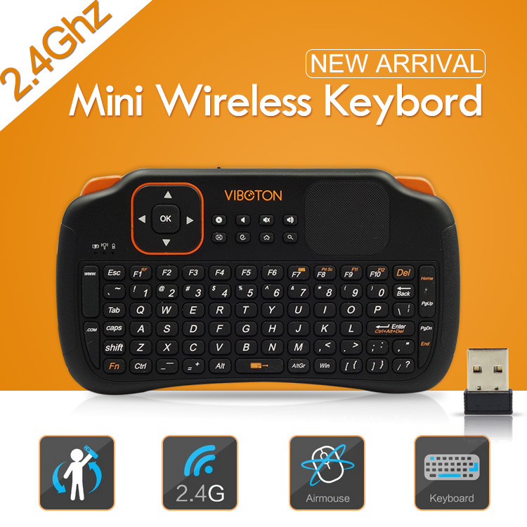 2015 Newest Mini Wireless Keyboard 2.4 Ghz Touchpad Handheld Battery Keyboard for Windows PC Android TV Laptop Tablet Projector(China (Mainland))