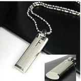 Fashion Men Jewelry Easter Bible Necklaces Titanium Stainless Steel Cross Pendant Necklaces(China (Mainland))