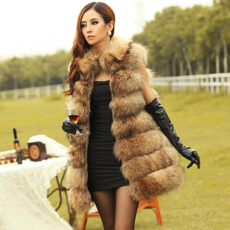 2015 New Arrival Real Genuine Raccoon Dog Fur Vest Natural Fur ...