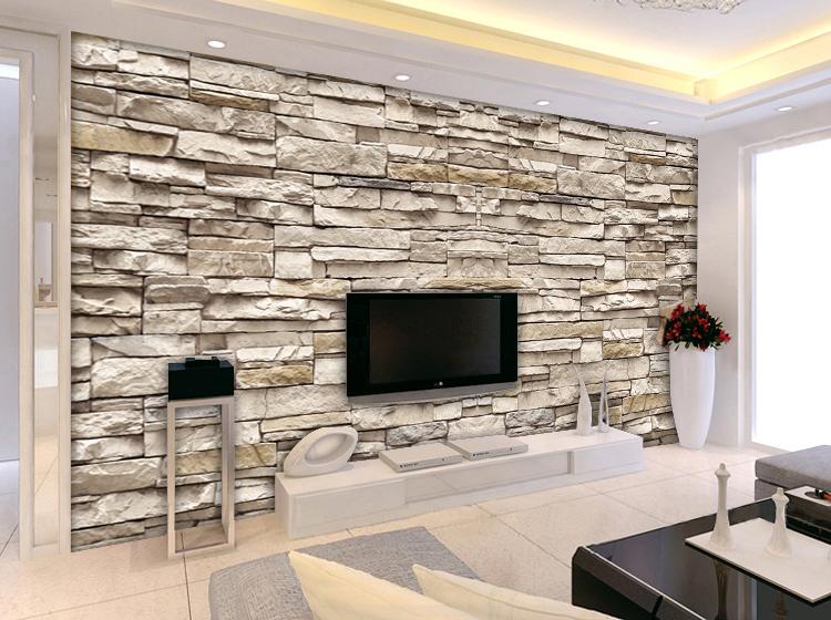 3d stone brick wall pattern european minimalist modern for Minimalist living list