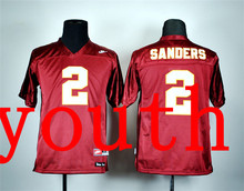 New Arrival Nike Youth Nike Florida State Seminoles Deion Sanders 2 Red College T-shirt Jersey(China (Mainland))