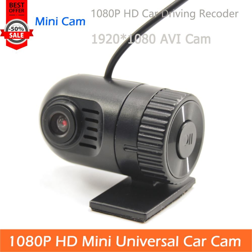 Free Shipping 1080P Mini Type HD Universal Car Cam TF Card AVI Video Output Recoder Max 32G(China (Mainland))