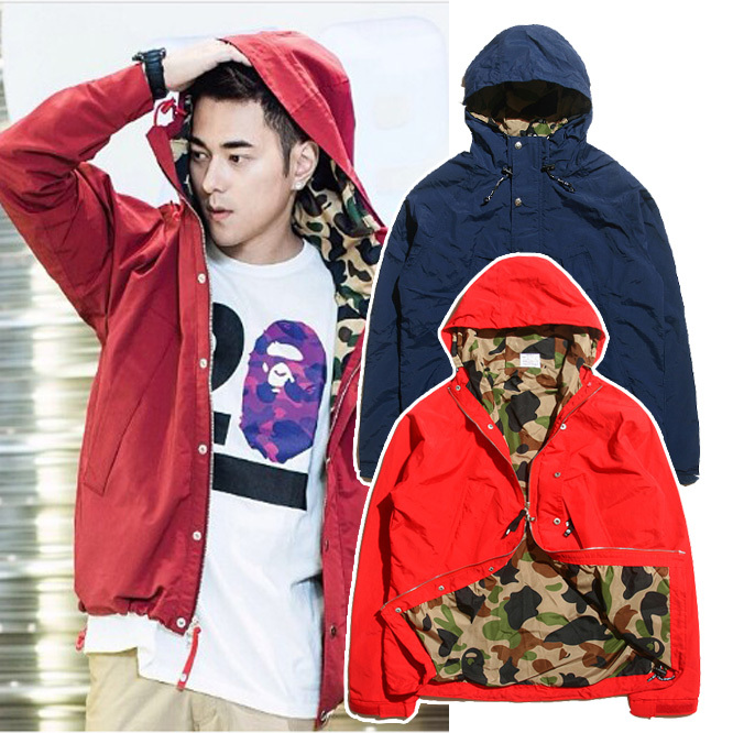 Autumn winter bape Camouflage lining male hood trench outerwear outdoor jacket cl ot  -  Grand nice enterprises limited-ZhengYunjiao store