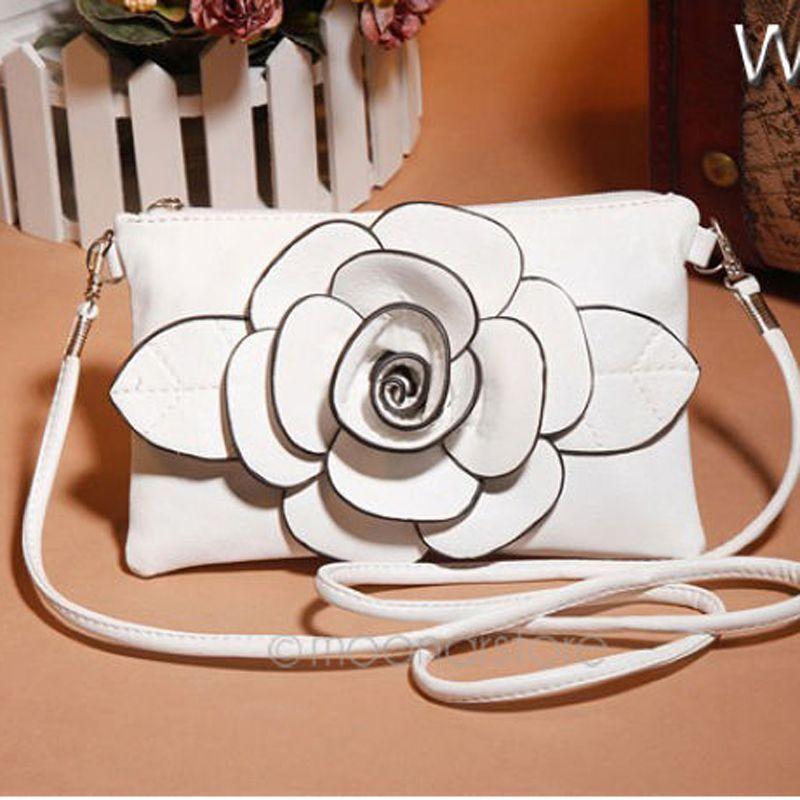 3D Flower Women's Handbag Cross Body Crossbody Bags Women Leather Handbags Shoulder Small Bag Women Messenger Bag Y70*B364#M5(China (Mainland))