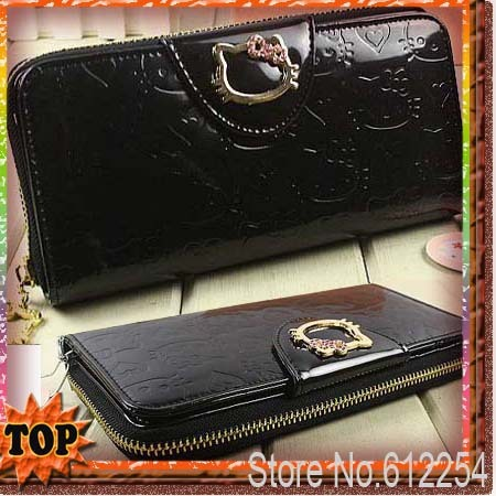 hot sale White Women hello kitty wallet Zipper wallets Clutch Wallet For Many style Lady purse bag card hello kitty 048 BKT301
