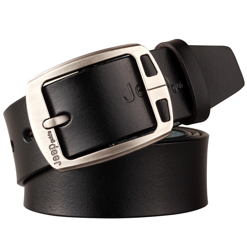 Men's Genuine Leather Cowhide Vintage Brown Classic Jean Pin Buckle Belts Gentleman Black/Coffee Casual Strap Belt Waistband(China (Mainland))