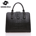 High Quality 100 Genuine Leather Women Handbags Classic Alligator Women Bag Fashion Brand Women Shoulder Bag