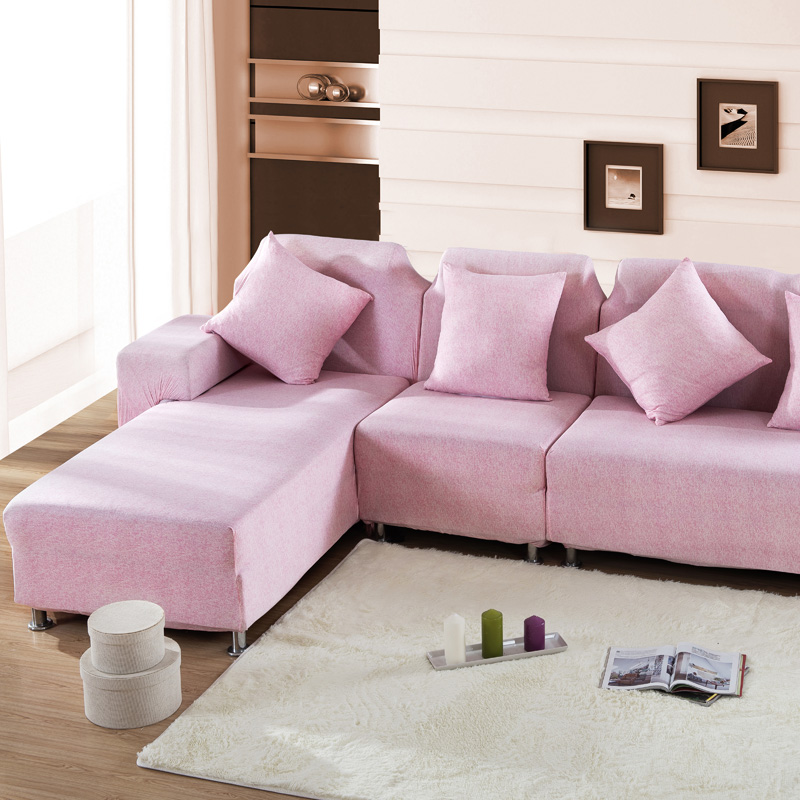 sofa cover Loveseat Cushions Furniture Protector pink L Shaped sofa fabric cover stretch universal tight stretch Home Decor(China (Mainland))