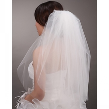 Buy Simple White/Ivory Wedding Veil With Comb Short Two Layer Bridal Veil 2017 Wedding Accessories for $5.80 in AliExpress store