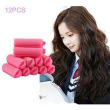 12 Pcs Curler Hairdressing tool Soft DIY Styling Tools Sponge Hair Styling Foam Hair Rollers Random Color