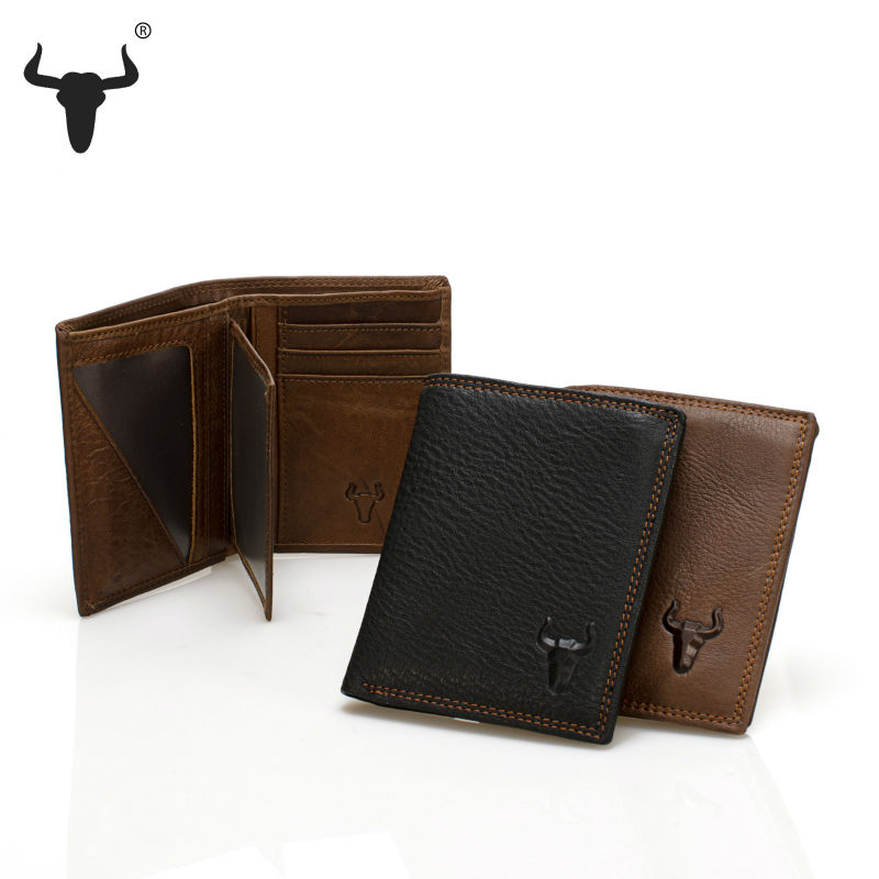 Men Short Wallets Black Brown Bifold Wallet Mens Brand Soft Genuine Real Leather Card holder Purse With Zipper Coins Pockets(China (Mainland))