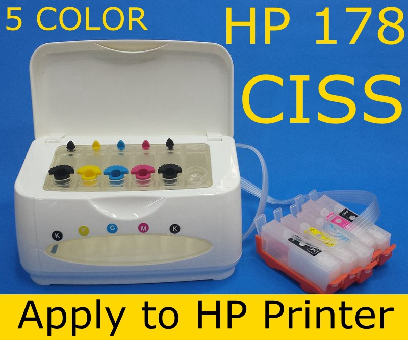 Chip 178 XL ink cartridge 5 color CISS ink tank apply to printer C5383 C6283 C6383 D5463 D8353 CC335C CN245C CN245C CN503C CQ521<br><br>Aliexpress