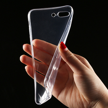 Transparent Clear Case for iPhone 7 6 6S Case for iPhone 7 Plus 6 6s Plus Soft Silica Gel TPU Silicone Ultra Thin Phone Cover(China (Mainland))