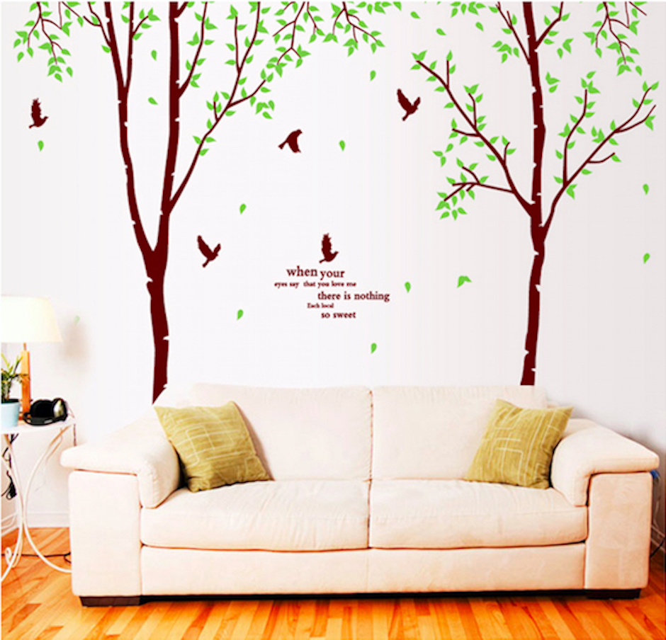 Wall stickers extra - Removable Pvc Extra Large Size Tree Wall Stickers For Living Room Bedroom Decals Wall Decoration Sticker