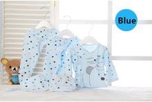 New Children Pajamas Set Cotton Baby Suit Cartoon Cow Newborn Clothes Long Sleeve Boys Girls Autumn Dot Children Pajamas Set(China (Mainland))