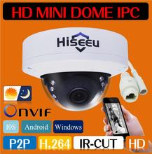 Freeshipping HD IP Camera Network Security CCTV Camera Mini Dome Camera IR Cam 1MP 720P-2MP 1080P Android IOS Remote ONVIF H.264(China (Mainland))