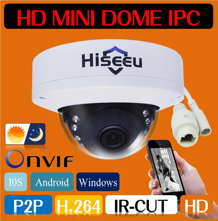Freeshipping HD IP Camera Network Security CCTV Camera Mini Dome Camera IR Cam 1MP 720P-2MP 1080P Android IOS Remote ONVIF H.264(China (Mainland))