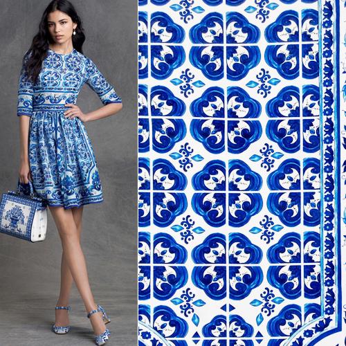 1M Width 145CM bright cloth blue white porcelain jacquard ethnic print fabric bazin riche getzner dress - Personal Tailor NO 1 store