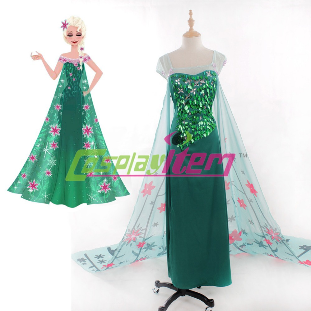 Hot New arrival Customized Princess Elsa cosplay Adult Cosplay dress Women Halloween Elsa Cosplay Costume dressОдежда и ак�е��уары<br><br><br>Aliexpress