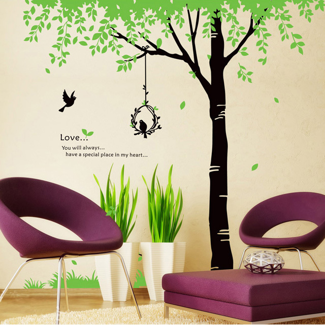 Fast Free Shipping Factory Wholesale 2 M High Tall Tree Wall Art Wall Sticker Decal