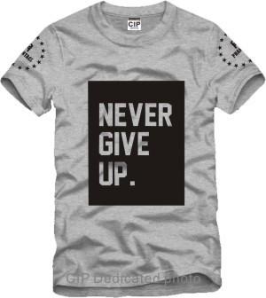 never give up Ice Bucket Challenge Jay Printed Mens Men T Shirt Camisetas Masculinas 2015 Manga Curta Camisa Masculina Tshirt(China (Mainland))