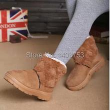 Botas de nieve mujeres , además de terciopelo grueso acolchado zapatos caliente antideslizante botas de invierno de algodón(China (Mainland))