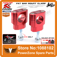 Billet HandleBar Fat Bar Risers 28mm Mount Clamp CR CRF CR125 CR250 CRF250R CRF450R CRF250X CRF450X Dirt Bike Motocross Enduro - PowerZone Co.,Ltd store