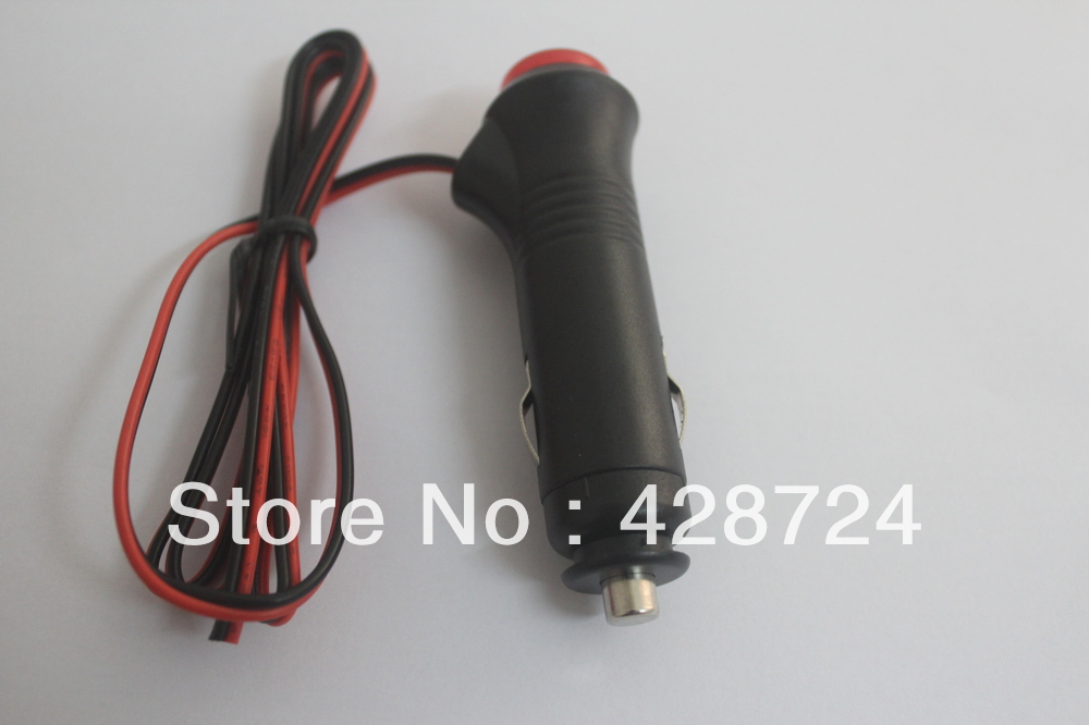 High quality! 5 pcs/lot 1M Car Cigarette Lighter Male Plug With 5A Fuse Switch LED Indicator in stock(China (Mainland))