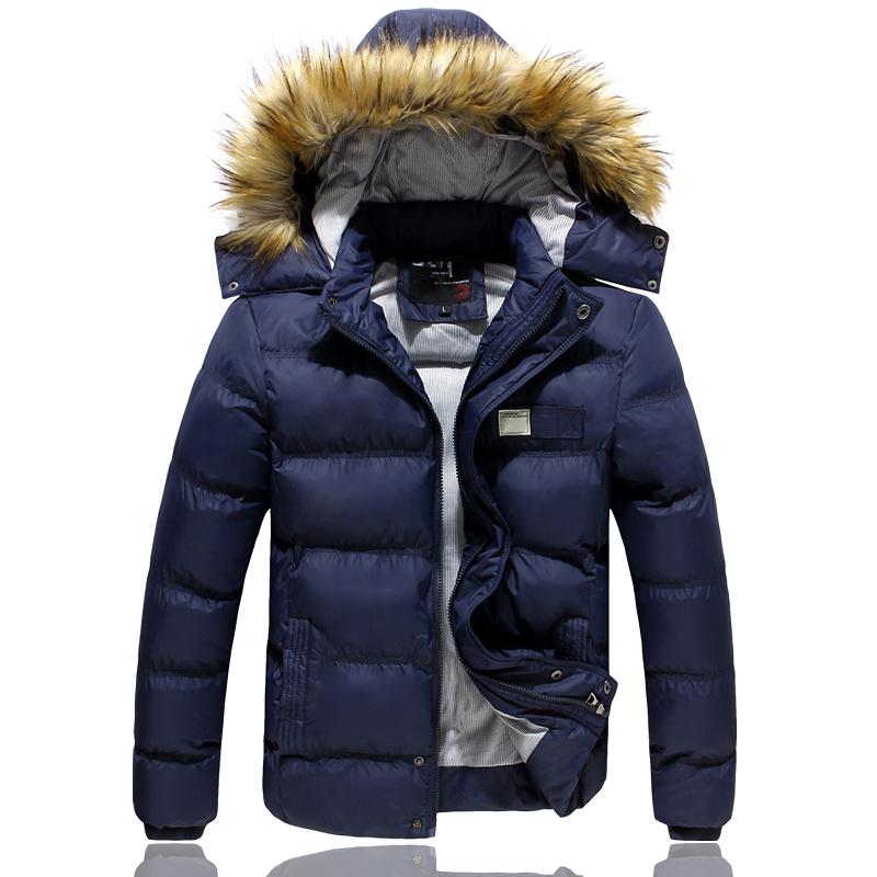 down male jacket 2014 sport clothing down-jacket casual-jacket coat jaket doudoune homme men parka outwear hooded park winter(China (Mainland))
