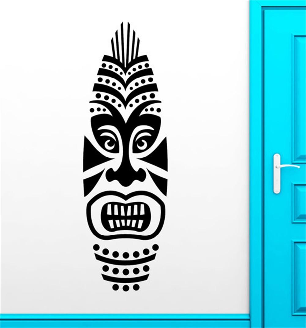 Free Shipping Large Surf Board Tiki Mask Design Surfing