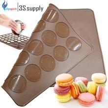 2015 New Food Grade Macaron Silicone Cake Mold  30 Holes Baking Mat Bakery Tools Soap Chocolate Mould Fondant Kitchen Utensils(China (Mainland))