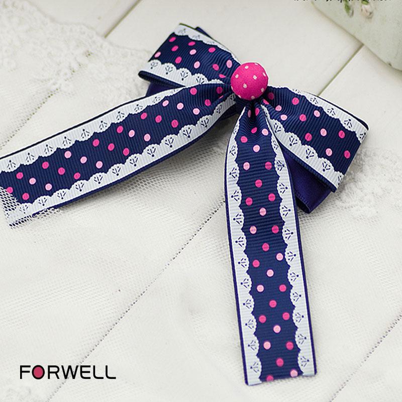 Children hair accessories handmade long ribbon hair ornaments headdress flower baby girls bow hair pins headwear jewelry(China (Mainland))
