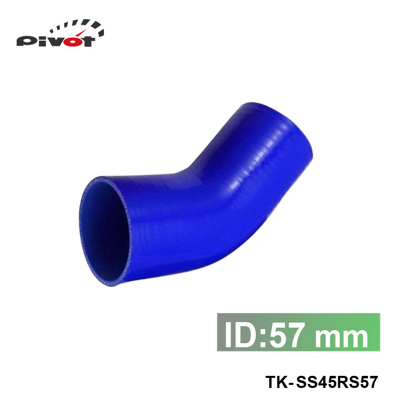 Tansky - Universal 45 degree Elbow Hose 57mm 2.25 Silicon<br><br>Aliexpress