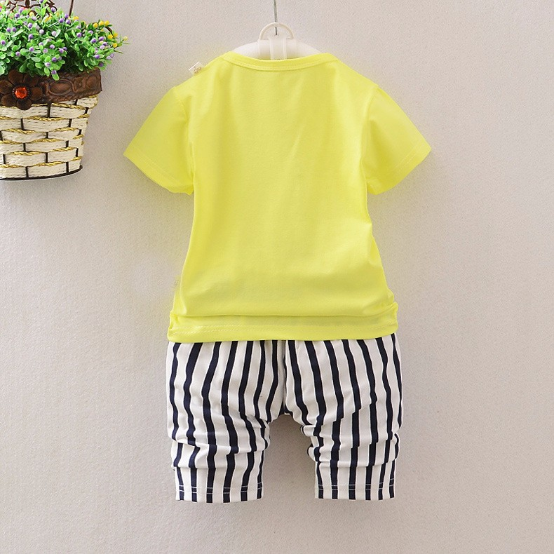 summer Baby clothes set baby girls Minnie T-shirt + pant baby girls clothing Red and yellow 2 color