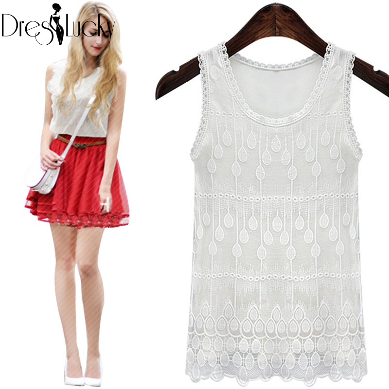 2016 Summer New White Tank Top Sexy Sleeveless Top Female Sexy Embroidery Women's Vest Slim T-shirts Lace Patchwork Tank Clothes(China (Mainland))