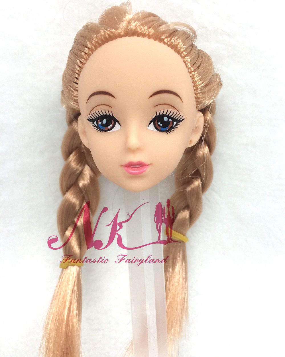 NK One Pcs Vogue Doll Head With Two pigtail Hair DIY Equipment For Barbie Kurhn Doll Greatest Lady' Present Baby DIY Toys zero34A