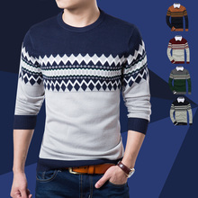 2014 Autumn new models round neck long-sleeved men's sweater pullover thin coat Men's Clothing Sweaters