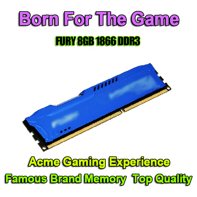 Hot Famous Brand RAMs Desktop Computer Memory Module DDR3 RAM 8GB 1866 MHz 8G DDR 3 PC Memoria RAM 8GB DDR3 Compatible With 1600(China (Mainland))