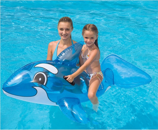 Lovely children water swimming supplies transparent big blue whale horse baby mounts inflatable toys(China (Mainland))