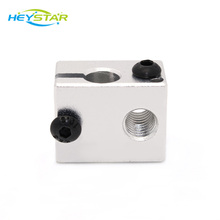 High Quality Aluminium Heat Block for E3D V6 J-head 3D Printer,RepRap Makerbot MK7/MK8 Extruder 3D Printer Accessories